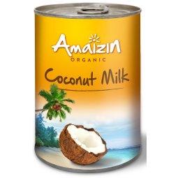COCONUT MILK - NAPÓJ KOKOSOWY (17% TŁUSZCZU) BEZ GUMY GUAR BIO 400 ML - AMAIZIN