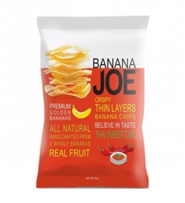 CHIPSY BANANOWE SŁODKIE CHILLI BANANA JOE - 50g - PURELLA FOODD
