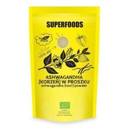 ASHWAGANDHA - ŻEŃ-SZEŃ INDYJSKI - (KORZEŃ) W PROSZKU SUPERFOODS BIO 150g - BIO PLANET