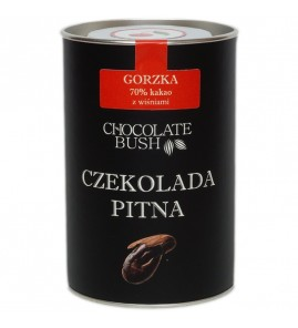 CZEKOLADA DO PICIA GORZKA Z WIŚNIAMI 200 g – CHOCOLATE BUSH