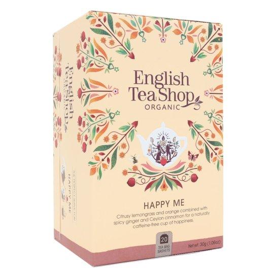 HAPPY ME ZESTAW HERBAT POPRAWIAJĄCYCH NASTRÓJ BIO - 20 SASZETEK - ENGLISH TEA SHOP