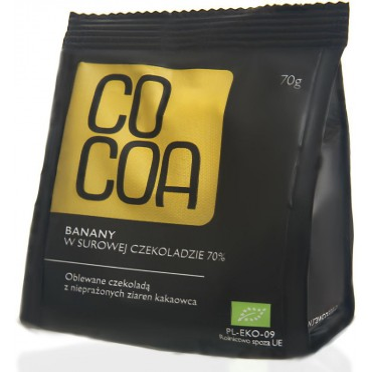 BANANY W SUROWEJ CZEKOLADZIE BIO 70 g – COCOA
