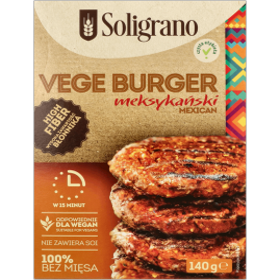 VEGE BURGER MEKSYKAŃSKI 140g - SOLIGRANO