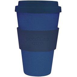 KUBEK WIELORAZOWEGO UŻYTKU Z WŁÓKNA BAMBUSOWEGO I KUKURYDZIANEGO DARK ENERGY 350ml - ECOFFEE CUP