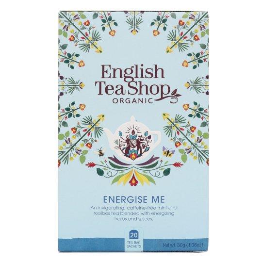 ENERGISE ME ZESTAW HERBAT ENERGETYZUJĄCYCH BIO - 20 SASZETEK - ENGLISH TEA SHOP