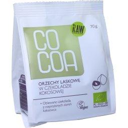 ORZECHY LASKOWE W CZEKOLADZIE KOKOSOWEJ BIO 70 g – COCOA