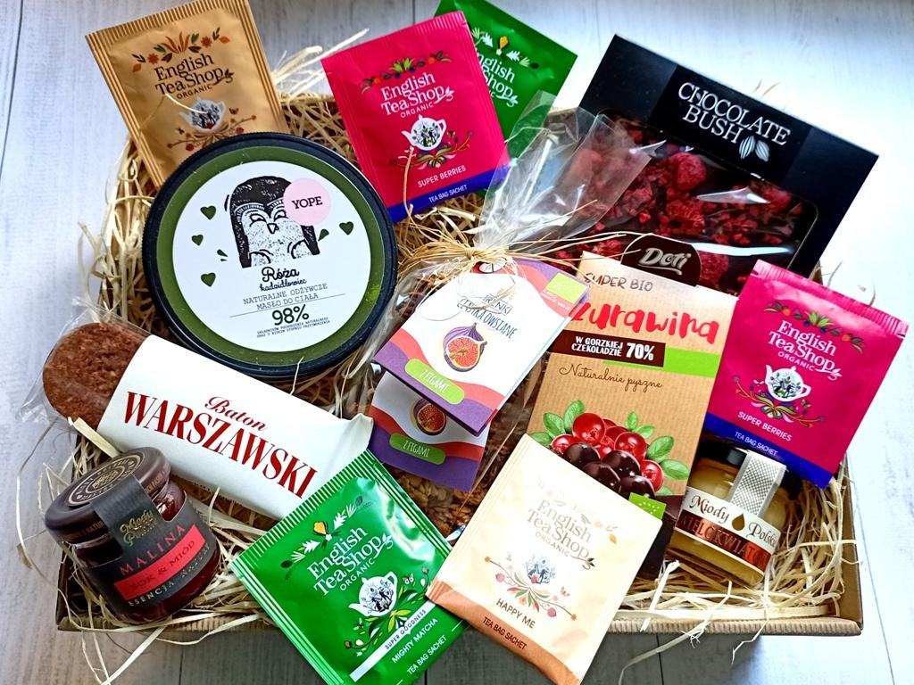 Zestaw prezentowy ze zdrowymi słodkościami