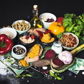 Zdrowa żywność, składniki do wypieków, deserów.